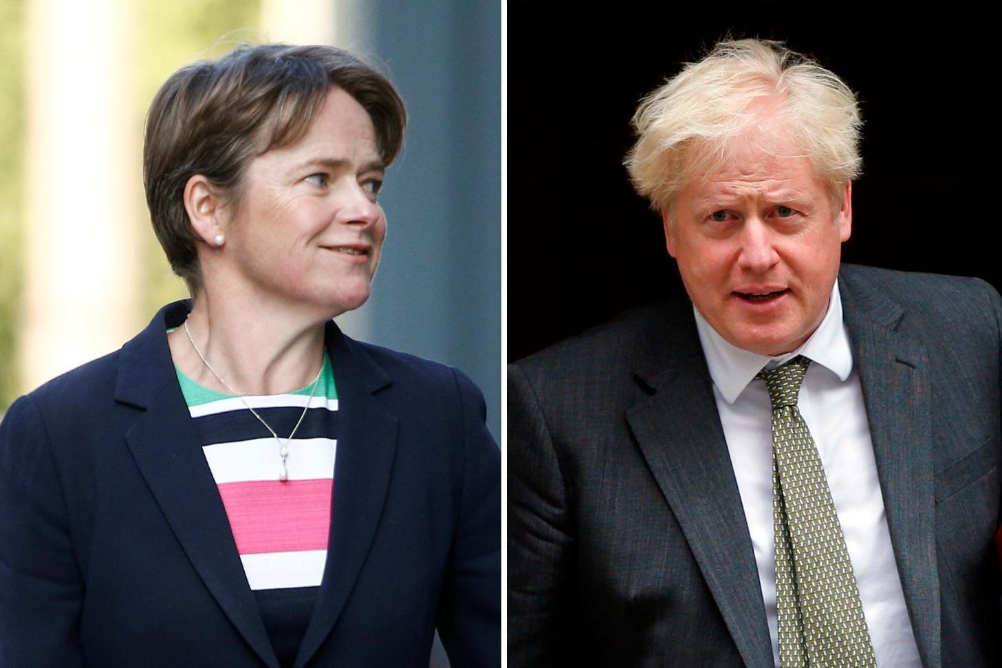Dido Harding. Boris Johnson